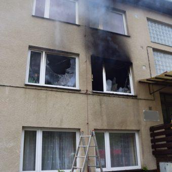 Požár bytového domu 6.5.2017